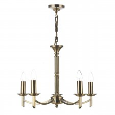 Dar Ambassador 5-Light Pendant Antique Brass