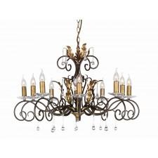 Elstead AML10 BRONZE Amarilli 10 - Light Chandelier Bronze/Gold