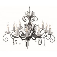Elstead AML10 BLK/SILVER Amarilli 10 - Light Chandelier Black/Silver