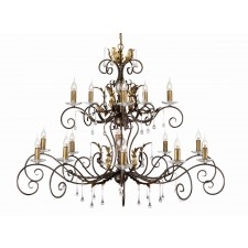 Elstead AML15 BRONZE Amarilli 15 - Light Chandelier Bronze