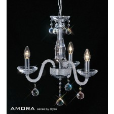 Diyas Amora Pendant 3 Light Polished Chrome