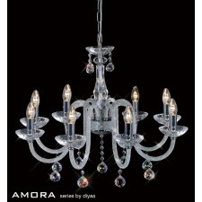 Diyas Amora Pendant 8 Light Polished Chrome