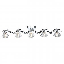 Dar Ancona 5-Light Bar Flush Polished Chrome