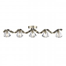 Ancona 5 Light Bar Flush Antique Brass
