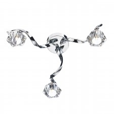 Dar Ancona 3-Light Flush Polished Chrome