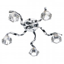 Dar Ancona 5-Light Flush Polished Chrome