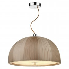 Arc 3 Light Dome Pendant - Taupe