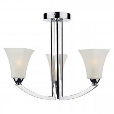 Arlington Semi Flush Ceiling Light - 3 Light, Polished Chrome