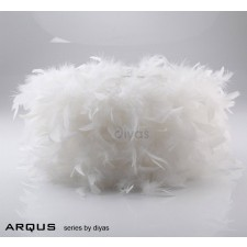 Diyas Arqus Feather Shade White 410mm