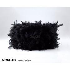Diyas Arqus Feather Shade Black 330mm
