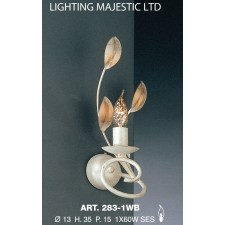 JH Miller - Isabella Wall Light - 1 Light Ivory White