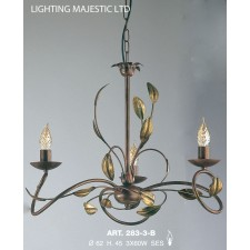 JH Miller- Isabella Ceiling Light - 3 Light Chestnut Brown