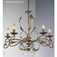 JH Miller - Isabella Ceiling Light - 5 Light Chestnut Brown