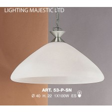 JH Miller - Dorchester Pendant Light - Satin Chrome
