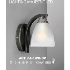 JH Miller - Dorchester Wall Light - Black & Chrome