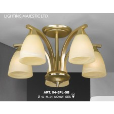 JH Miller - Dorchester Ceiling Light - 5 Light Satin Brass