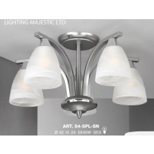 JH Miller - Dorchester Ceiling Light - 5 Light Satin Chrome