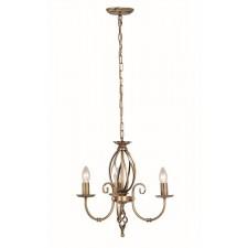 Elstead ART3 AGD BRASS Artisan 3 - Light Chandelier Aged Brass