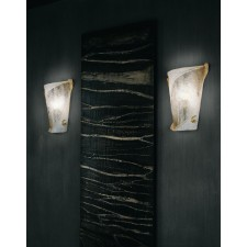 Atene Flush Wall Lamp - 1 Light, Glass