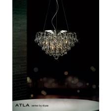 Diyas Atla Pendant 8 Light Polished Chrome/Crystal