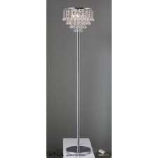 Diyas Atla Floor Lamp 4 Light Polished Chrome/Crystal