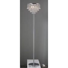 Diyas Atla Floor Lamp 4 Light Polished Chrome/Crystal