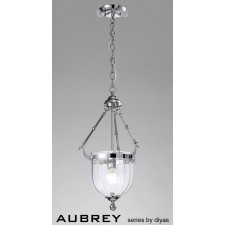 Diyas Aubrey Pendant 1 Light Polished Chrome