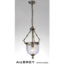 Diyas Aubrey Pendant 1 Light Antique Brass