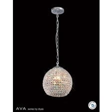 Diyas Ava Pendant 4 Light Polished Chrome/Crystal