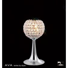 Diyas Ava Table Lamp 2 Light Polished Chrome/Crystal