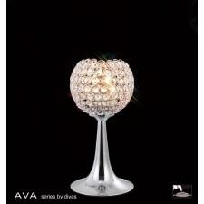Diyas Ava Table Lamp 2 Light Polished Chrome/Crystal
