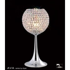 Diyas Ava Table Lamp 3 Light Polished Chrome/Crystal