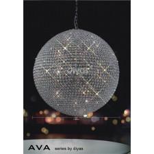 Diyas Ava Pendant 18 Light Polished Chrome/Crystal