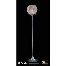 Diyas Ava Floor Lamp 5 Light Polished Chrome/Crystal