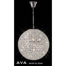 Diyas Ava Pendant 7 Light Polished Chrome/Crystal