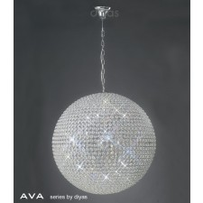 Diyas Ava Pendant 12Light Polished Chrome/Crystal