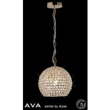 Diyas Ava Pendant 4 Light French Gold/Crystal