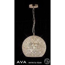 Diyas Ava Pendant 5 Light French Gold/Crystal