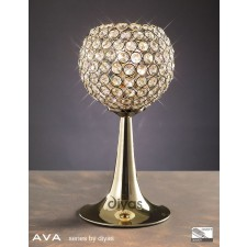 Diyas Ava Table Lamp 2 Light French Gold/Crystal