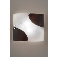 Baltimora Flush Wall Lamp - 1 Light, Brown