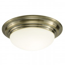 Barclay Large Flush Ceiling Light - Antique