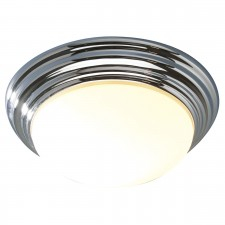 Barclay Flush Ceiling Light - IP44 Small Chrome