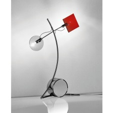 Barcelona Table Lamp - 2 Light, Polished Chrome, Coloured Glass