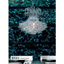 Diyas Bask Pendant 6 Light Round Polished Chrome/Crystal