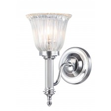 Elstead BATH/CARROLL1 PC Carroll1 Wall Light Polished Chrome