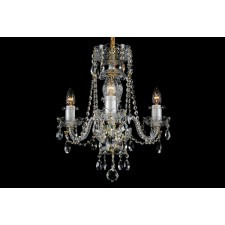 Bohemian BCC03A Clear Crystal Chandelier - 3-Light