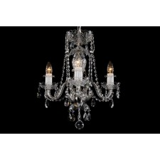 Bohemian BCC03AS Silver Crystal Chandelier - 3-Light