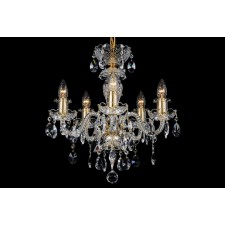 Bohemian BCC05BG Golden Crystal Chandelier - 5-Light
