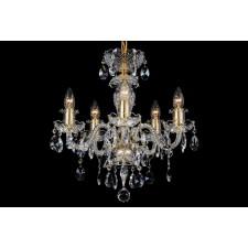 Bohemian BCC05BG Golden Crystal Chandelier - 5-Light