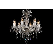 Bohemian BCC06BS Silver Crystal Chandelier - 6-Light